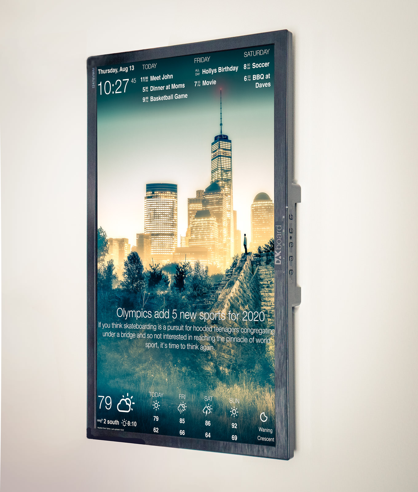 DAKboard - A customizable display for your photos, calendar ... on