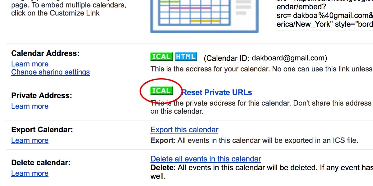 how to add links to google calendar entry